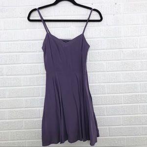 Aritzia Talula Purple Mini Dress Fit and Flare 0